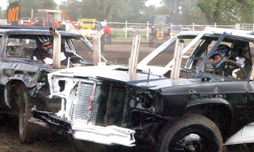 The crash of metal on metal begins at 5 p.m. on Saturday at Mobridge Rodeo Grounds at the Mobridge Demolition Derby.