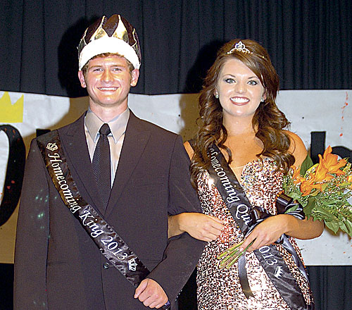 Mobridge-Pollock Tiger royalty for 2013-2014 homecoming celebration, King Austin Borah and Queen Ellie Rabenberg were crowned on Thursday, Sept. 12. Austin is the son of Todd and Amy Borah and Ellie is the daughter of Jason and Pam Rabenberg.