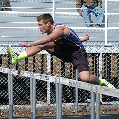 Austin Iverson of Herreid-Selby Area won the 110-meter and 300-meter hurdle races, while anchoring the winning 400-meter and 800-meter relay teams at the Ipswich Tiger Relays.
